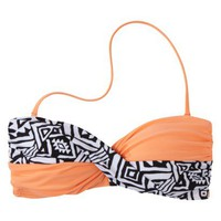 Junior&#x27;s Tribal Print Bandeau Swim Top -Assorted Colors