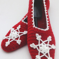 santa claus christmas slippers, Christmas slippers with Snowflakes , home slippers, yoga, healthy, shoes Gift for christmas, OOAK