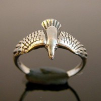 Soaring Sterling Silver Bird Ring 141 by Firefallstudios on Etsy