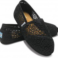 Black Crochet Women&#x27;s Classics | TOMS.com