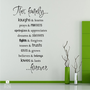 Family Rules Wall Decals  Vinyl Text Wall by singlestonestudios