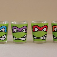 Teenage Mutant Ninja Turtle-Faces-Shooter Set of 4- 1.5