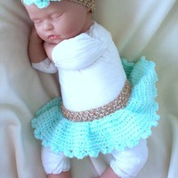 Turquoise Newborn Tutu And Headband.. on Luulla