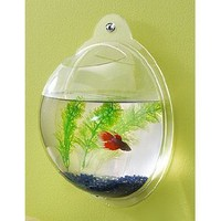 "Wall Mount Fish Bowl Aquarium Acrylic Decoration 10"" Home Room Decor Accent NEW"
