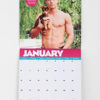 Urban Outfitters - Hot Guys And Baby Animals Wall Calendar By Audrey Khuner