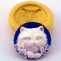 CAT Cameo Mold Flexible Silicone Kawaii Decoden by BlueTomatoes