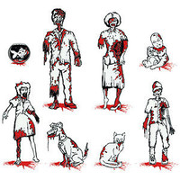 ThinkGeek :: Zombie Family Car Decals