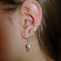 Pair Of Solid Sterling Silver Ear C.. on Luulla