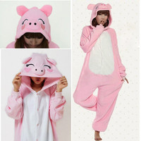 4 Lovely Cute Unisex Adult Anime Pyjamas Hoodie COSPLAY Costume Onesuits Coat