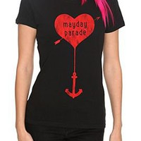 Mayday Parade Heart Anchor Girls T-Shirt - 144774