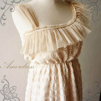 Amor Dress Vintage Inspired Princess Beige One by Amordress
