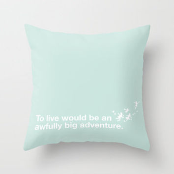 Peter Pan - Mint Throw Pillow by SamAnne | Society6