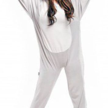 Grey Mouse - Costumes - Pajamas Footie PJs Onesuit One Piece Adult Pajamas - JumpinJammerz.com