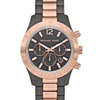 Michael Kors Layton Chronograph Watch, Rose Golden/Gray - Michael Kors