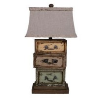 One Kings Lane - European-Inspired Lighting - Three Drawers Lamp