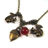 Squirrel And Acorn Necklace Jewelry.. on Luulla