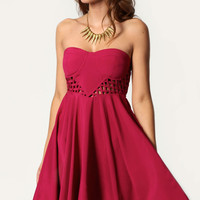 Bria Bandeau Skater Dress