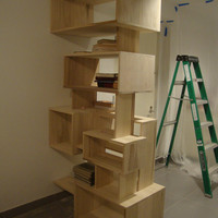 Custom Made Wall Bookcase by STORnewyork on Etsy