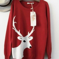 New Arrival: Reindeer head sweater