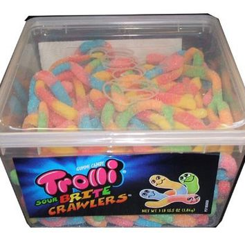 Trolli Sour Brite Crawlers, 63oz Tub