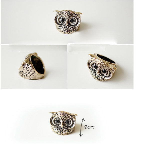 New Arrival Simple Fashion Style Owl Pattern Finger Ring China Wholesale - Sammydress.com