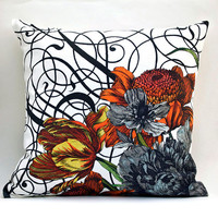 Vintage BOTANICAL Pillow Ready to Ship Original Design by saltlabs