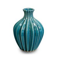 Teal Pleated Bud Vase - Decorative Accessories - Dwellings