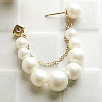 Fashion Pearl Dangle Stud Earrings at Online Cheap Fashion Jewelry Store Gofavor