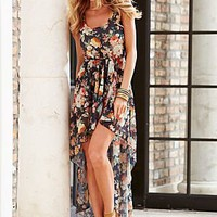 Floral print high low dress in the VENUS Line of Dresses for Women