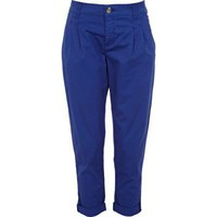 bright blue chinos - casual trousers - trousers / leggings - women - River Island