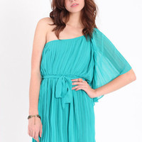 Living Royalty One Shoulder Pleated Dress - $42.00 : ThreadSence.com, Your Spot For Indie Clothing & Indie Urban Culture