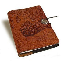 Amazon.com: Tree of Life Embossed Leather Writing Journal, 6 x 9-inch: Home &amp; Kitchen