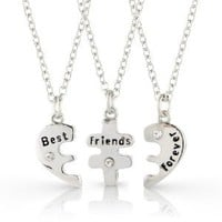 Best Friends Forever three part necklace, friendship necklace includes beautiful gift bag for each necklace.