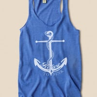 Refuse To Sink Anchor Eco Heather Racerback Tank Top