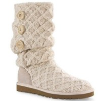Amazon.com: UGG Australia Women&#x27;s Lattice Cardy Metallic Boots Cornsilk: Shoes