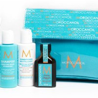 Moroccanoil NEW Travel Kit (Intense Hydrating Mask, Shampoo, Conditioner, Oil Treatment)