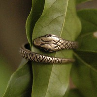 $17 Brass Coiled Snake Ring RagTraderVintage.com