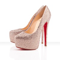 Christian Louboutin Daffodile 160mm Platform Pumps Peach - $197