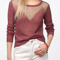 Sparkle &amp; Fade Drop-Stitch Pullover Sweater
