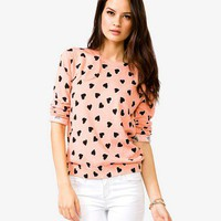 Heart Pattern Sweater | FOREVER 21 - 2000049629