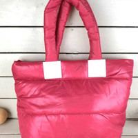 New Arrival Stylish and Laconic Space Bule Cotton Handbag 