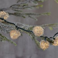 Crimped Metal Sphere Ornament Lights | west elm