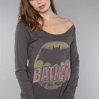 The Batman Up All Night Off Shoulder Raglan : Junkfood Clothing : Karmaloop.com - Global Concrete Culture