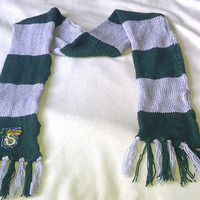 Harry Potter Hogwarts Scarf Slytherin with patch by juliet1555