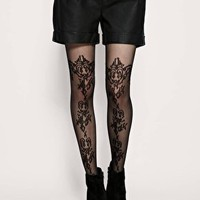 ASOS Pattern Sheer Tights - Black