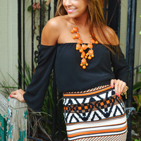 Make Me Part Of The Tribe Skirt: Orange | Hope&#x27;s