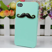 Reseda  Cell Phone Hard Case Cover And Black Moustache   For Apple Iphone 4,4s,4g,4gs