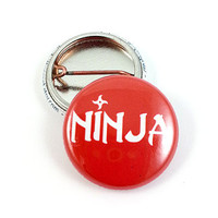 Ninja 1 Inch Pinback Button