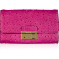 Michael Kors|Gia ostrich-effect leather clutch|NET-A-PORTER.COM