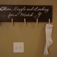 Lost sock sign Lost socks laundry room decor by Otrengraving